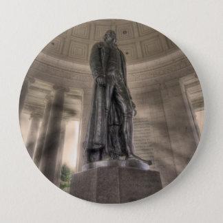Badge Rond 10 Cm Statue en bronze commémorative de Thomas Jefferson