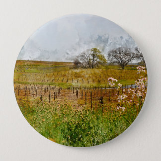 Badge Rond 10 Cm Vignoble dans Napa Valley