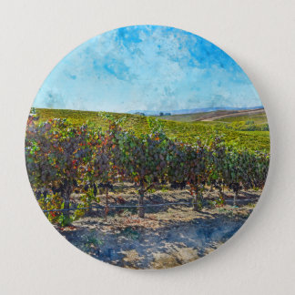 Badge Rond 10 Cm Vignoble dans Napa Valley la Californie