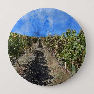 Badge Rond 10 Cm Vignoble dans Napa Valley la Californie