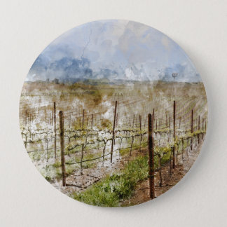 Badge Rond 10 Cm Vignoble de Napa Valley