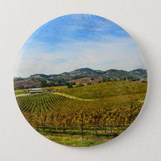Badge Rond 10 Cm Vignoble de Napa Valley la Californie