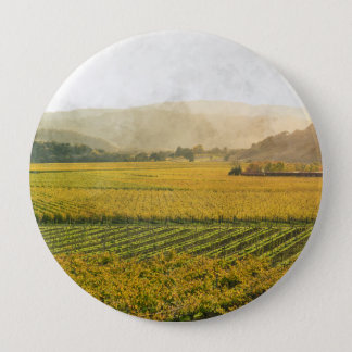 Badge Rond 10 Cm Vignoble en automne dans Napa Valley la Californie