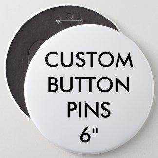 Badge Rond 15,2 Cm Blanc d'insigne de Pin de bouton personnalisé par