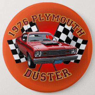 Badge Rond 15,2 Cm Bouton 1976 de chiffon de Plymouth