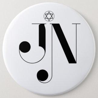 Badge Rond 15,2 Cm Bouton colossal de logo de magazine de JN