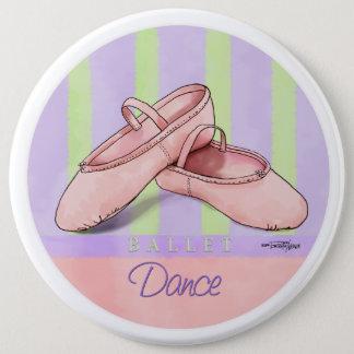 Badge Rond 15,2 Cm Bouton de considérant de danse de pantoufles de