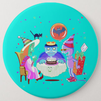 Badge Rond 15,2 Cm Bouton de Frankie de joyeux anniversaire (couleur)