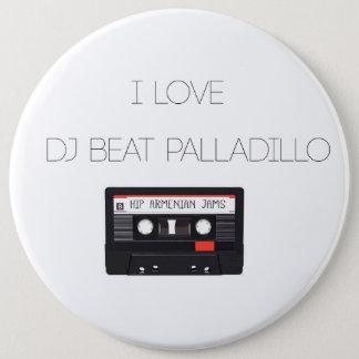 Badge Rond 15,2 Cm Bouton de Palladillo de battement du DJ