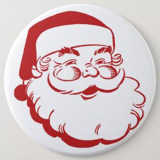 Badge Rond 15,2 Cm Bouton de Père Noël