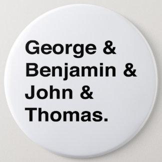 Badge Rond 15,2 Cm Bouton de pères fondateurs