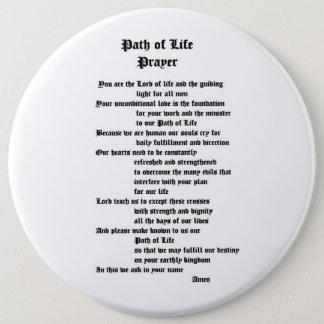 Badge Rond 15,2 Cm Chemin de prière de la vie