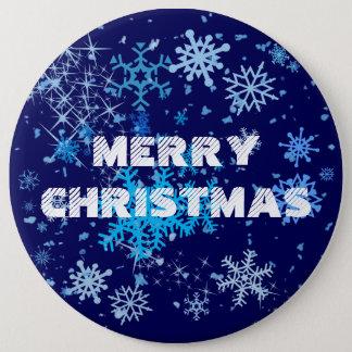 Badge Rond 15,2 Cm Chutes de neige de nuit de Noël