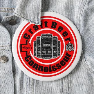 Badge Rond 15,2 Cm Connaisseur de bière de métier
