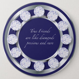 Badge Rond 15,2 Cm Diamant d'amitié