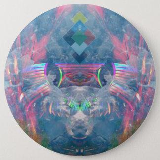 Badge Rond 15,2 Cm Esprit cherokee de loup