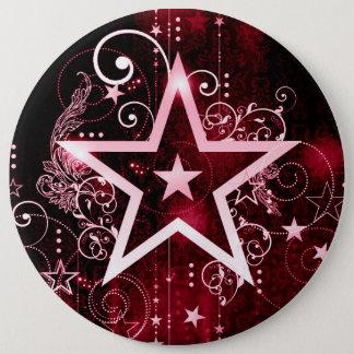 Badge Rond 15,2 Cm étoile rouge