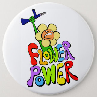 Badge Rond 15,2 Cm Flower power