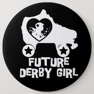Badge Rond 15,2 Cm Future fille de Derby, conception de patinage de
