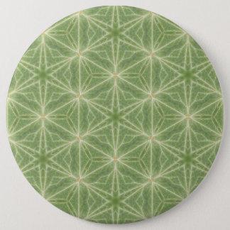 Badge Rond 15,2 Cm Insigne vert de dessin géométrique de feuille de