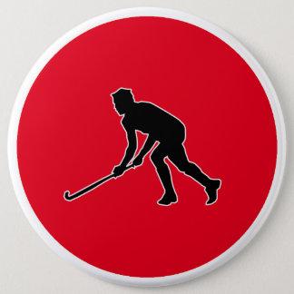 Badge Rond 15,2 Cm Joueur de hockey d'herbe