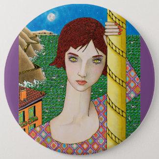 Badge Rond 15,2 Cm La mer de turquoise