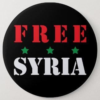 BADGE ROND 15,2 CM LA SYRIE LIBRE
