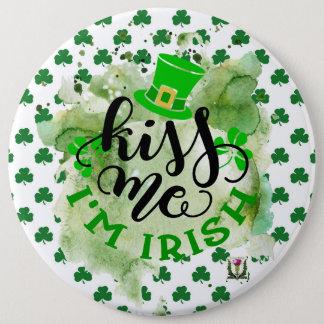 Badge Rond 15,2 Cm Le bouton 53086B de St Patrick du plaisir de