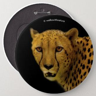 Badge Rond 15,2 Cm Le commerce jette un coup d'oeil avec un guépard