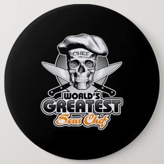 Badge Rond 15,2 Cm Le plus grand chef v5 de Sous du monde
