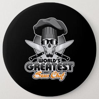 Badge Rond 15,2 Cm Le plus grand chef v7 de Sous du monde