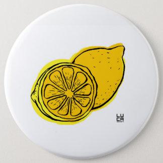 Badge Rond 15,2 Cm Lemon