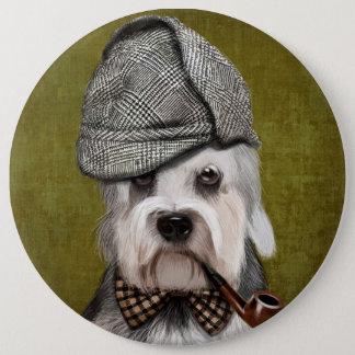 Badge Rond 15,2 Cm M. Dandie Dinmont Terrier
