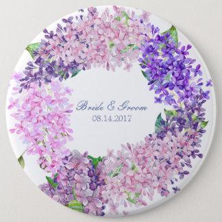 Badge Rond 15,2 Cm Mariage Fleur-Floral de fleur lilas de ressort