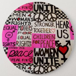 """Badge Rond 15,2 Cm Mars des femmes, 6"""" rond"""