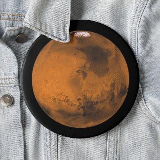 Badge Rond 15,2 Cm Mars la planète rouge dans l'éléphant d'espace