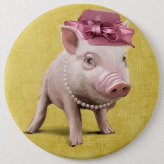 Badge Rond 15,2 Cm Mlle Piggy