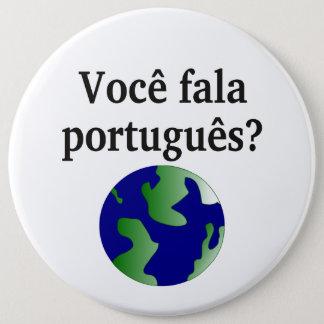 Badge Rond 15,2 Cm Parlez-vous portugais ? dans le Portugais. Avec le