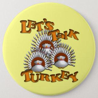 Badge Rond 15,2 Cm Parlons la Turquie