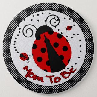 Badge Rond 15,2 Cm Petite Madame baby shower Maman-à-est bouton