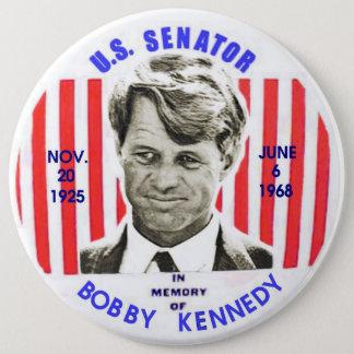 Badge Rond 15,2 Cm Pinback de mémorial de Bobby Kennedy