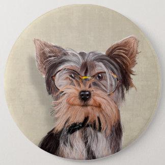 Badge Rond 15,2 Cm Portrait de M. Yorkshire Terrier