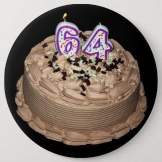 Badge Rond 15,2 Cm Presque 64… soixante-quatrième Bouton de gâteau
