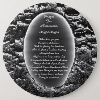 Badge Rond 15,2 Cm Prière pour la restauration