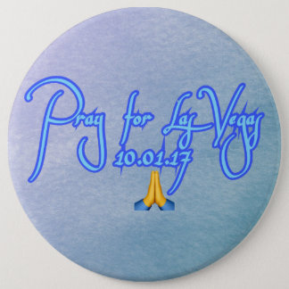 Badge Rond 15,2 Cm Priez pour Las Vegas
