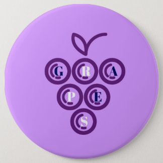 Badge Rond 15,2 Cm Raisins pourpres