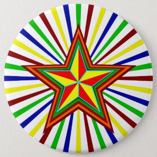 Badge Rond 15,2 Cm Rétro étoile