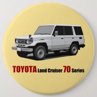 Badge Rond 15,2 Cm Série HZJ77 du croiseur 70 de terre de Toyota