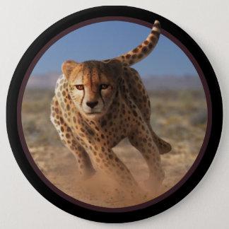Badge Rond 15,2 Cm Sprinter l'illustration de guépard