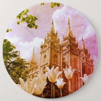 Badge Rond 15,2 Cm Temple mormon de Salt Lake City, Utah